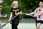 GER - Hannover, Germany, May 31: During the Women Lacrosse Playoffs 2015 match between KIT SC Karlsruhe (pink) and HTHC Hamburg (black) on May 31, 2015 at Deutscher Hockey-Club Hannover e.V. in Hannover, Germany. Final score 3:18. (Photo by Dirk Markgraf / www.265-images.com) *** Local caption *** Sophie Mollenhauer #6 of HTHC Hamburg