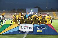 BOGOTA - COLOMBIA, 7-12-2020: Bogotá F.C. y  Valledupar en partido por los cuartos de fnal del Torneo BetPlay DIMAYOR I 2020 jugado en el estadio Metropolitano de Techo de la ciudad de Bogota. / Bogota F.C. and Valledupar in match for the quarters final  as part of BetPlay DIMAYOR Tournament I 2020 played at the Metropolitano de Techo stadium of Bogota city. Photos: VizzorImage / Felipe Caicedo  / Staff