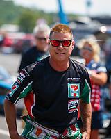 Jun 10, 2017; Englishtown , NJ, USA; NHRA funny car driver Jim Campbell during qualifying for the Summernationals at Old Bridge Township Raceway Park. Mandatory Credit: Mark J. Rebilas-USA TODAY Sports