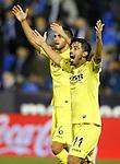 Villarreal CF's Jaume Costa (r) and Victor Ruiz during La Liga match. December 3,2016. (ALTERPHOTOS/Acero)
