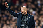 Manager Zinedine Zidane of Real Madrid gestures during the UEFA Champions League 2017-18 Round of 16 (1st leg) match between Real Madrid vs Paris Saint Germain at Estadio Santiago Bernabeu on February 14 2018 in Madrid, Spain. Photo by Diego Souto / Power Sport Images