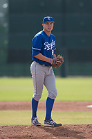 Kansas City Royals relief pitcher Evan Steele (66) prepares to deliver a pitch during an Instructional League game against the San Francisco Giants at the Giants Training Complex on October 17, 2017 in Scottsdale, Arizona. (Zachary Lucy/Four Seam Images)