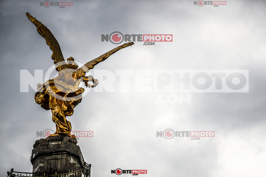 Monument to the Independence of Mexico. The Angel or The Angel of Independence. Sculpture located in the roundabout of Paseo de la Reforma in Mexico City. (Photo: Luis Gutierrez / NortePhoto.com)...<br /> Monumento a la Independencia de Mexico. El Ángel o El Ángel de la Independencia. Escultura ubicada en la glorieta del paseo de la Reforma en la Ciudad de México. (Foto: Luis Gutierrez / NortePhoto.com).