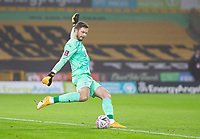8th January 2021; Molineux Stadium, Wolverhampton, West Midlands, England; English FA Cup Football, Wolverhampton Wanderers versus Crystal Palace; Crystal Palace Goalkeeper Jack Butland takes a goal kick