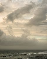 Moody sunset and clouds formations in Punakaiki, Paparoa National Park, Buller Region, West Coast, New Zealand, NZ