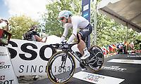 Tony Martin (DEU/Etixx-Quickstep) off the start ramp<br /> <br /> Elite Men TT<br /> UCI Road World Championships / Richmond 2015