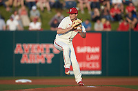 North Carolina State Wolfpack starting pitcher Sean Adler (29) in action against the Louisville Cardinals at Doak Field at Dail Park on March 24, 2017 in Raleigh, North Carolina. The Wolfpack defeated the Cardinals 3-1. (Brian Westerholt/Four Seam Images)