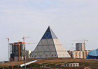 The Palace for Peasce and Reconcilliation designed by Sir Norman Foster, in Astana, the capitol of Kazakstan.<br /> <br /> PHOTO BY RICHARD JONES/SINOPIX