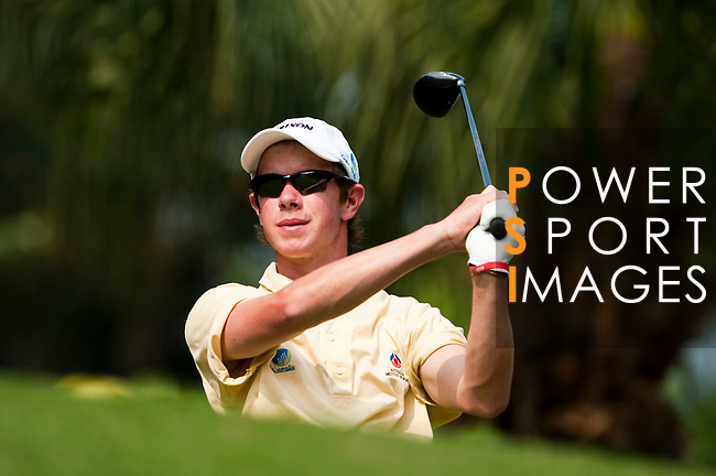 SHENZHEN, CHINA - OCTOBER 31:  Jordan Sherratt of Australia tees off on the 6th hole during the day three of Asian Amateur Championship at the Mission Hills Golf Club on October 31, 2009 in Shenzhen, Guangdong, China.  (Photo by Victor Fraile/The Power of Sport Images) *** Local Caption *** Jordan Sherratt