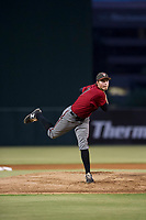 AZL Diamondbacks starting pitcher Jake Polancic (21) follows through on his delivery against the AZL Angels on August 20, 2017 at Diablo Stadium in Tempe, Arizona. AZL Angels defeated the AZL Diamondbacks 19-1. (Zachary Lucy/Four Seam Images)