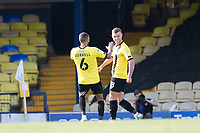Jack Muldoon, Harrogate Town,  celebrates his second and his sides fourth goal during Southend United vs Harrogate Town, Sky Bet EFL League 2 Football at Roots Hall on 12th September 2020