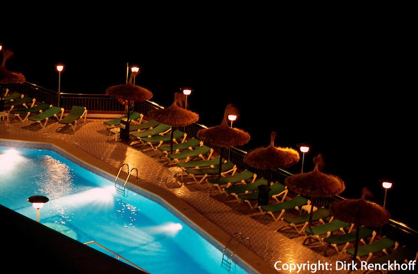 Pool von Hotel Florida in  Magaluf, Mallorca, Spanien