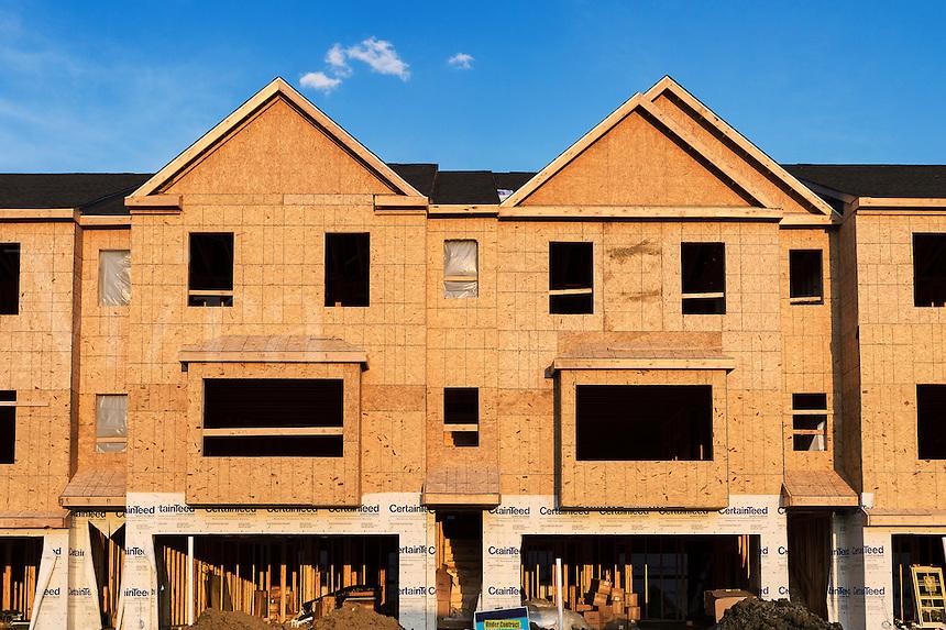 New housing construction, New Jersey, USA.