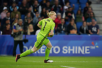 LE HAVRE, FRANCE - JUNE 20: Hedvig Lindahl #1 during a 2019 FIFA Women's World Cup France group F match between the United States and Sweden at Stade Océane on June 20, 2019 in Le Havre, France.