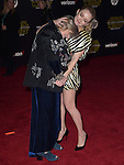 Carrie Fisher and Billie Catherine Lourd at Star Wars: The Force Awakens World Premiere held at El Capitan Theatre in Hollywood, California on December  14,2015                                                                   Copyright 2015Hollywood Press Agency