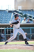 Jonah Arenado (7) of the San Jose Giants bats against the Lancaster JetHawks during the first game of a doubleheader at The Hanger on July 14, 2016 in Lancaster, California. Lancaster defeated San Jose, 3-0. (Larry Goren/Four Seam Images)