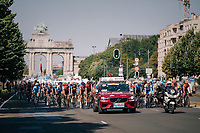 rollling out of Brussels<br /> <br /> Israel Cycling Academy @ the 98th Brussels Cycling Classic 2018<br /> One Day Race:  Brussels > Brussels (201km)