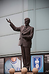 Coventry City 1 Birmingham City 1, 10/03/2012. Ricoh Arena, Championship. A statue to Jimmy Hill at the Ricoh Arena, before Coventry City hosted Birmingham City in an Npower Championship fixture. The match ended in a one-all draw, watched by a crowd of 22,240. Jimmy Hill was a former manager and director of Coventry widely credited with engineering the club's success in the 1960s and 1970s Photo by Colin McPherson.