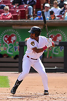 Wisconsin Timber Rattlers third baseman Zavier Warren (13) at bat during a game against the Cedar Rapids Kernels on September 8, 2021 at Neuroscience Group Field at Fox Cities Stadium in Grand Chute, Wisconsin.  (Brad Krause/Four Seam Images)