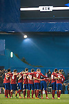 Atletico de Madrid's players before start the penalty shootout during UEFA Champions League match. March 15,2016. (ALTERPHOTOS/Borja B.Hojas)
