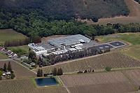 aerial photograph The Ranch Winery, St. Helena, Napa County, California, a custom crush facility