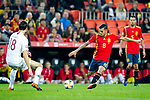Norway's Ole Selnaes  and Spain's Daniel Ceballos  during the qualifying match for Euro 2020 on 23th March, 2019 in Valencia, Spain. (ALTERPHOTOS/Alconada)