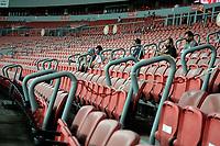 PORTO ALEGRE, (RS), 21.02.2021 - INTERNACIONAL – YPIRANGA – Jogos realizados às 20 horas, com estádio sem torcida, apenas imprensa, atletas e profissionais da federação, na Bandeira Preta no estado, na partida entre Internacional e Ypiranga, pela 4ª rodada do Campeonato Gaúcho 2021, no estádio Beira Rio, em Porto Alegre, neste domingo (14).