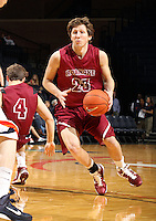 Nov 6, 2010; Charlottesville, VA, USA; Roanoke College g Corey Poindexter (3) handles the ball Saturday afternoon in exhibition action at John Paul Jones Arena. The Virginia men's basketball team recorded an 82-50 victory over Roanoke College.