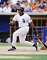 CIRCA 1997: Frank Thomas #35 of the Chicago White Sox at bat during a game from his 1997 season with the Chicago White Sox. Frank Thomas played for 19 years with 3 different teams, was a 5-time All-Star, 1993 and 1994 American League MVP winner and was elected to the Baseball Hall of Fame in 2014.(Photo by: 1997 SportPics)  *** Local Caption *** Frank Thomas