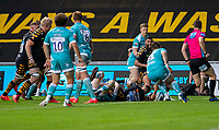 21st August 2020; Ricoh Arena, Coventry, West Midlands, England; English Gallagher Premiership Rugby, Wasps versus Worcester Warriors; Ben Vellacott of Wasps scores a try during the Gallagher Premiership Rugby match between Wasps and Worcester Warriors at Ricoh Arena