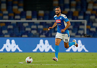 Nikola Maksimovic of Napoli  during the  italian serie a soccer match,  SSC Napoli - AC Milan       at  the San  Paolo   stadium in Naples  Italy , July 12, 2020