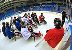 Sochi, RUSSIA - Mar 2 2014 -  Team Canada Sledge Team practices before the 2014 Paralympics in Sochi, Russia.  (Photo: Matthew Murnaghan/Canadian Paralympic Committee)