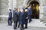 Former Minister Dermot Ahern arrives at The Funeral of Garda Anthony Golden RIP in St Oliver's church Blackrock Co Louth.<br /> <br /> Garda Golden was guned down in Omeath last Sunday.<br /> Picture Newsfile | Fran Caffrey