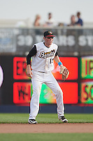 Quad Cities River Bandits second baseman Bobby Wernes (13) during a game against the Bowling Green Hot Rods on July 24, 2016 at Modern Woodmen Park in Davenport, Iowa.  Quad Cities defeated Bowling Green 6-5.  (Mike Janes/Four Seam Images)