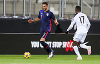 WIENER NEUSTADT, AUSTRIA - NOVEMBER 16: Matt Miazga #3 of the United States moves with the ball during a game between Panama and USMNT at Stadion Wiener Neustadt on November 16, 2020 in Wiener Neustadt, Austria.