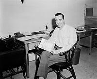Le musicien Real Bedard<br /> , 30 juin 1958, Quebec.<br /> <br /> PHOTO :  Agence Quebec Presse