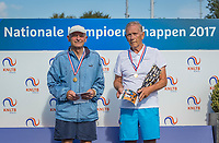 Etten-Leur, The Netherlands, August 27, 2017,  TC Etten, NVK, Winner men's 80+, Jack Leonhart (R) and runner up Theo de Waal<br /> Photo: Tennisimages/Henk Koster