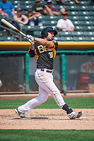 Matt Joyce (30) of the Salt Lake Bees at bat against the Omaha Storm Chasers in Pacific Coast League action at Smith's Ballpark on August 16, 2015 in Salt Lake City, Utah. Joyce was in Salt Lake on a rehab assignment from the Los Angeles Angels of Anaheim.  Omaha defeated Salt Lake 11-4. (Stephen Smith/Four Seam Images)