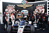 #30: Takuma Sato, Rahal Letterman Lanigan Racing Honda in Victory Lane with Honda HPD engineers