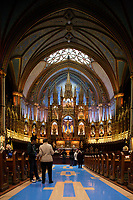 Montreal QC CANADA - May 10 2009- .Notre-Dame Basilica s one of Old- Montreal major tourist attraction