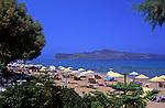 Griechenland, Kreta, Agia Marina: Strand beim Hotel Santa Marina | Greece, Crete, Agia Marina: beach near Hotel Santa Marina