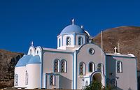 Kirche Agios Nektarios in Kamari auf der Insel Santorin (Santorini), Griechenland, Europa