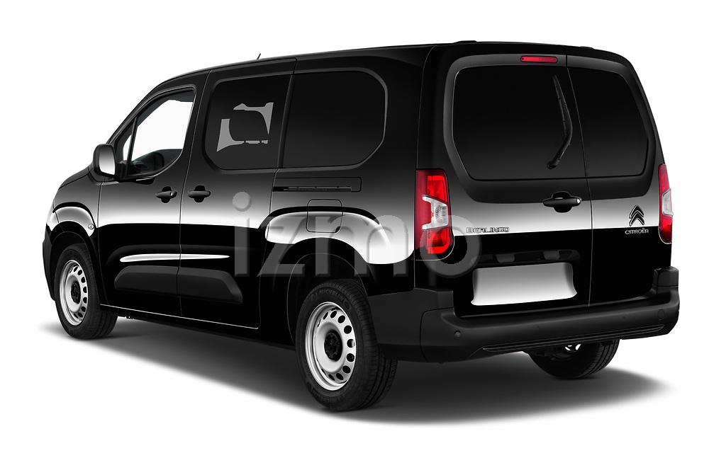 Car pictures of rear three quarter view of 2020 Citroen Berlingo - 4 Door Car Van Angular Rear