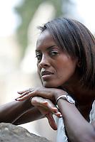 L'attrice ed attivista somala per i diritti degli immigrati Shukri Said, ritratta a Roma, 19 giugno 2009.<br /> Somali actress and activist for immigrants rights Shukri Said, portrayed in Rome, 19 june 2009.<br /> UPDATE IMAGES PRESS/Riccardo De Luca