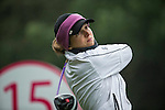 Celine Herbin of France tees off at the 15th hole during Round 3 of the World Ladies Championship 2016 on 12 March 2016 at Mission Hills Olazabal Golf Course in Dongguan, China. Photo by Victor Fraile / Power Sport Images
