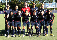 MIAMI, FL - DECEMBER 21, 2012:  Starting eleven of the USA MNT U20 during a closed scrimmage with the Venezuela U20 team, on Friday, December 21, 2012, At the FIU soccer field in Miami.  USA won 4-0.