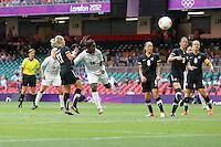 Anita ASANTE of Great Britain heads just wide - Great Britain Women vs New Zealand Women - Womens Olympic Football Tournament London 2012 Group E at the Millenium Stadium, Cardiff, Wales - 25/07/12 - MANDATORY CREDIT: Gavin Ellis/SHEKICKS/TGSPHOTO - Self billing applies where appropriate - 0845 094 6026 - contact@tgsphoto.co.uk - NO UNPAID USE.