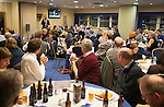 St Johnstone v Motherwell....31.10.14   SPFL<br /> Pete Loudon speaks during the Q&A session with fans<br /> Picture by Graeme Hart.<br /> Copyright Perthshire Picture Agency<br /> Tel: 01738 623350  Mobile: 07990 594431