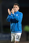 St Johnstone v Hearts 17.05.17     SPFL    McDiarmid Park<br />Danny Swanson applauds the saints fans after his final appearance for St Johnstone<br />Picture by Graeme Hart.<br />Copyright Perthshire Picture Agency<br />Tel: 01738 623350  Mobile: 07990 594431