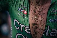 muddy cycling bling by Tim Merlier (BEL/Crelan-Charles)<br /> <br /> Men's race<br /> Superprestige Asper-Gavere 2018 (BEL)